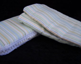 Green Stripe Wipe and Burp Set