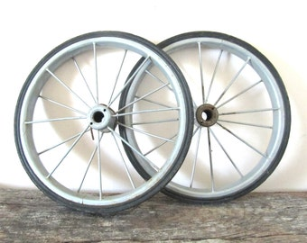 Vintage Spoked Wheels - Set of 2