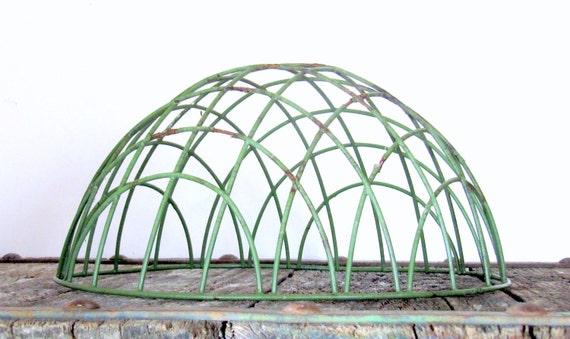 Vintage Wire Hanging Plant Basket