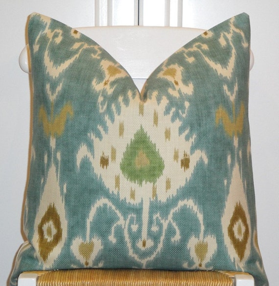 Throw Pillow Covers 20x20 : Decorative Pillow Cover 20x20 IKAT Throw by TurquoiseTumbleweed