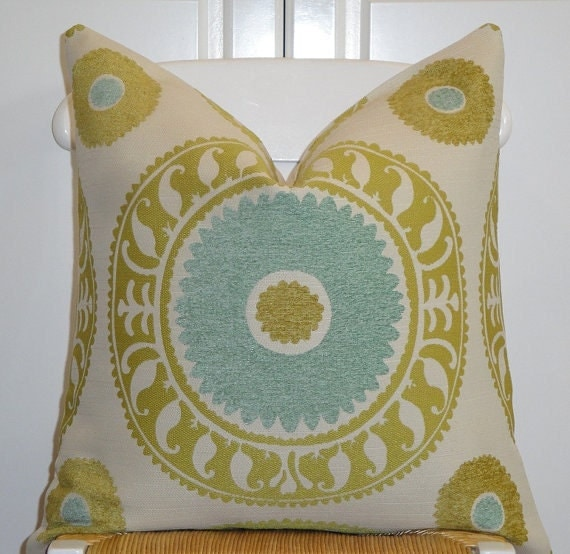 Beautiful Decorative Bed Pillows : Beautiful Decorative Pillow Cover 20x20 Designer Fabric