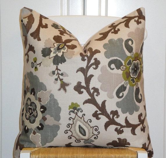 Beautiful Decorative Throw Pillows : Beautiful Decorative Pillow Cover 20 x 20 Floral Suzani