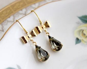 Sparkling Bow Earrings