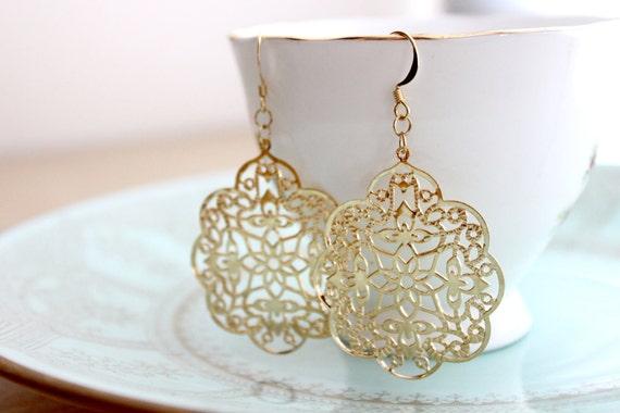 Paisley Gold Earrings