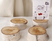 reserved fo funkyasian  ...  12 Birch Wood Place Holders for Wedding Decor, Meetings, Events, Photo Props, Formal Dinners...R
