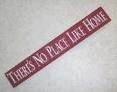Theres No Place Like Home Primitive Wood Sign Wizard Of Oz UPC
