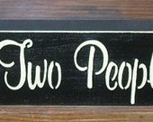 ON SALE TODAY Inspirational Quotes All Because Two People Fell In Love  Painted Wooden  Sign You Pick Colors