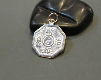 Vintage - Sterling  Silver Yin Yang Pendant