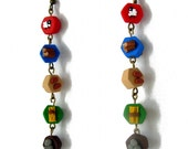 Catan Resource Earrings, board game earrings, Catan gift, Settlers earrings, long dangly earrings, Catan charms