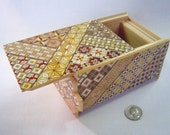 Japanese Puzzle box (Himitsu bako)- 6inch(150mm) Open by Standard 14steps Yosegi