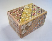 Japanese Puzzle box (Himitsu bako)- 3.5inch(90mm) Open by 7steps Yosegi