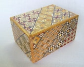 Japanese Puzzle box (Himitsu bako)- 3.5inch (90mm) 18steps Yosegi