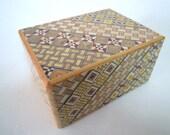 Japanese Puzzle box (Himitsu bako)- 4.7inch Open by 14steps Double Compartment Yosegi