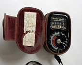 Lignt Exposure Meter Vintage Weston Master II Universal w/ Leather Case Model 735