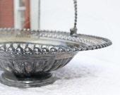 Victorian Brides Basket or Cake Basket Silver Plate