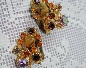 Vintage Rhinestone Earrings by Kramer NY Circa 1960