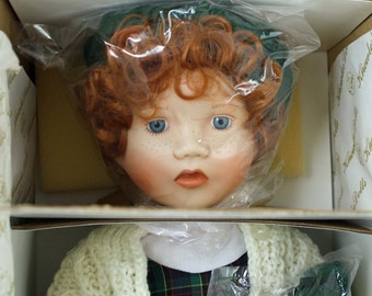 Porcelain Doll Handcrafted Molly International Festival of Toys and Tots Hippensteel