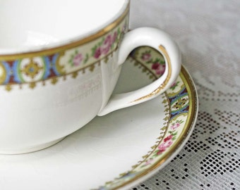 China Cup and Suacer circa 1950 Crown Potteries - C.P. Co