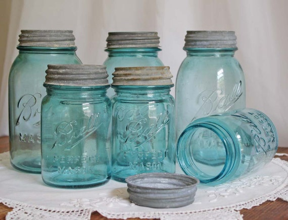 Ball Mason Jars with Zinc Lids set of three