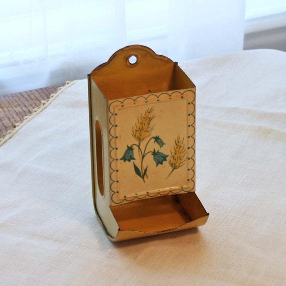 Vintage Match Holder Wall 1940s Kitchen Match Box Holder