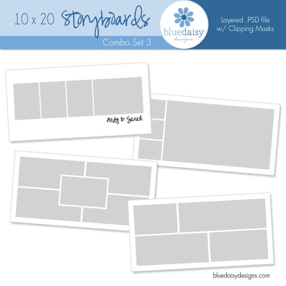 10 x 20 Storyboards (Set 3) for Photographers - Photoshop Files