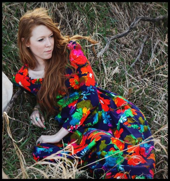 Vintage // 'Technicolor Dream' Dress // Small
