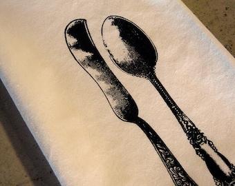 B. Poetic Spoon and Knife Flour Sack Towel