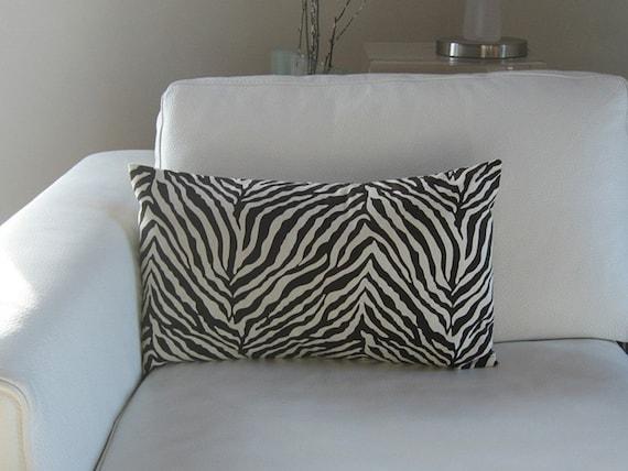 B. Poetic Zebra Print Pillow Cover