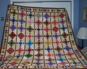 Flying Geese Scrappy Quilt - FINISHED
