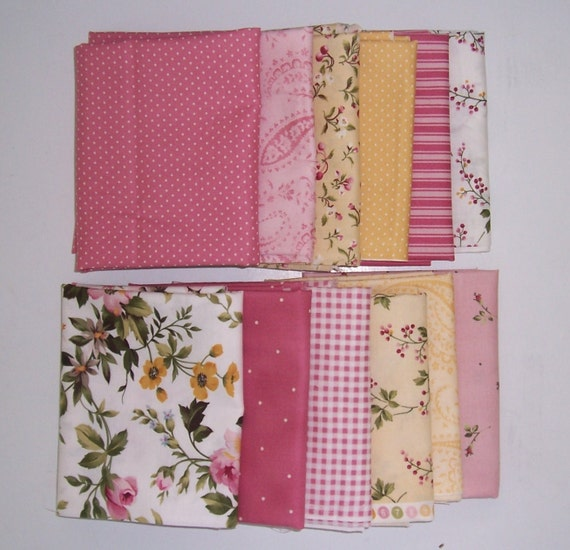 12 Fat Quarters -Wild Rose from Marti Michell & Maywood Studio