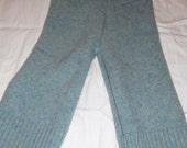 Size Medium Lambswool Longies in Soft Blue