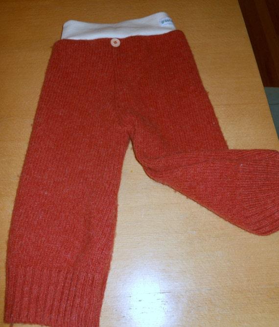 Size Medium Upcycled Wool Longies