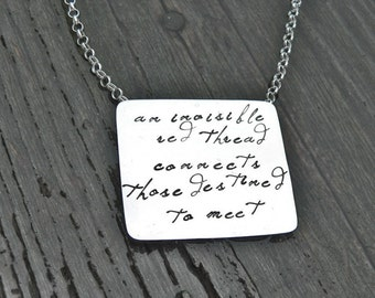 An Invisible Red Thread...an Adoption Necklace