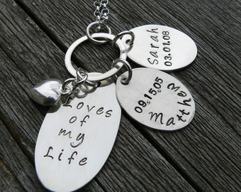 Love You Forever...Custom Sterling Mothers Necklace (2 tags)