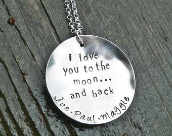 Love You to the Moon...personalized