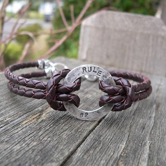 Rustic Men's Sterling and Latigo Bracelet