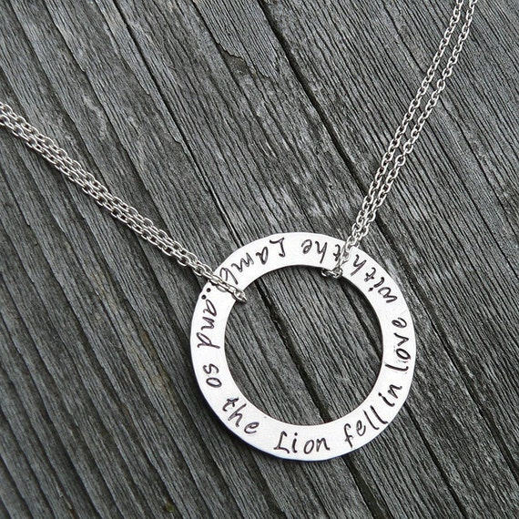 And So the Lion Fell in Love with the Lamb (Twilight) - Solid Sterling, 4 font choices