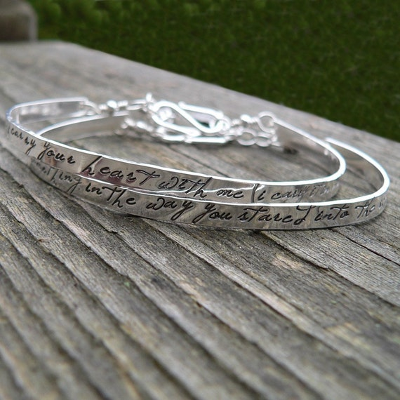 Custom Stamped Sterling Phrase Cuff - 12 FONT CHOICES