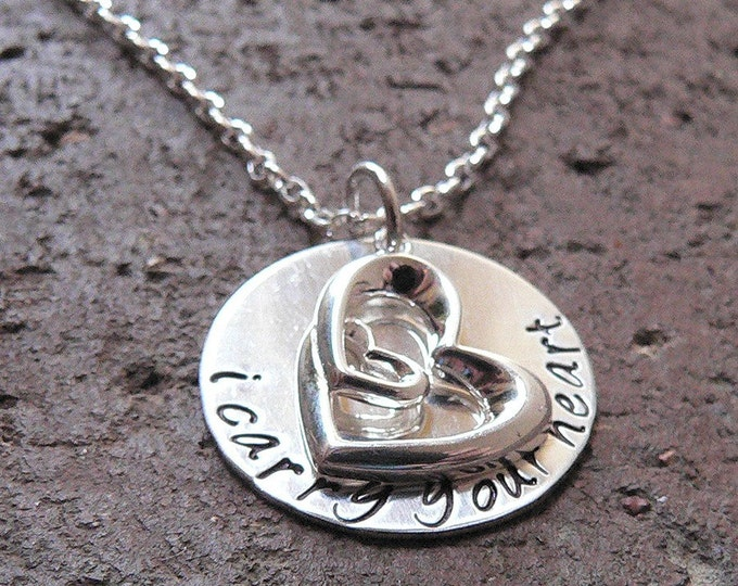 I Carry Your Heart...custom sterling silver necklace