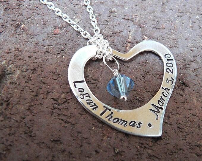 Captive Heart...Custom Sterling Necklace