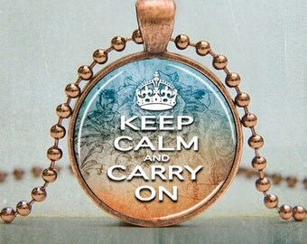 Keep Calm and Carry On Art Pendant Picture Pendant (705)