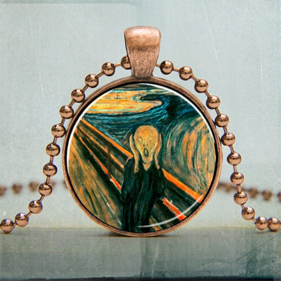 Art Pendant | The Scream Edvard Munch Art Pendant | Art and Collectibles Fine Art Painting | Gifts Under 25 | No. 3027