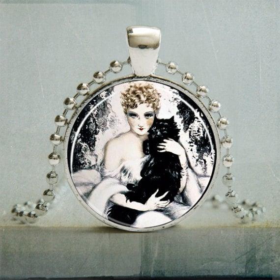 Art Pendant | Black Cat Art Pendant | Black Cat Jewelry |  Black Cat Pendant | Fine Art Pendant | Gifts for Women Under 25 | No. 3032