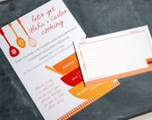 CUSTOM LISTING for Alisa Livingstone -- Wedding Shower invitation and matching recipe card set