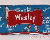 Boutique Personalized Dr. Seuss Cat In the Hat with Red Accents Baby Wipes Case