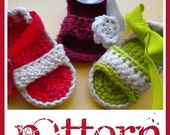PATTERN Baby Girl Sandals - PDF Crochet Pattern