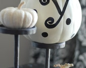 Adorable Monogram WHITE pumpkins....Personalized Just for You