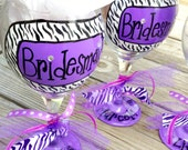 Wedding Party Glasses - Pick your colors & design