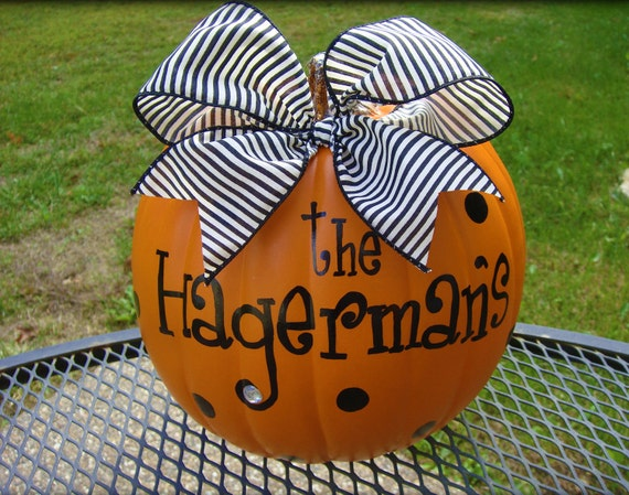 Family Name Personalized Pumpkins..ADORABLE