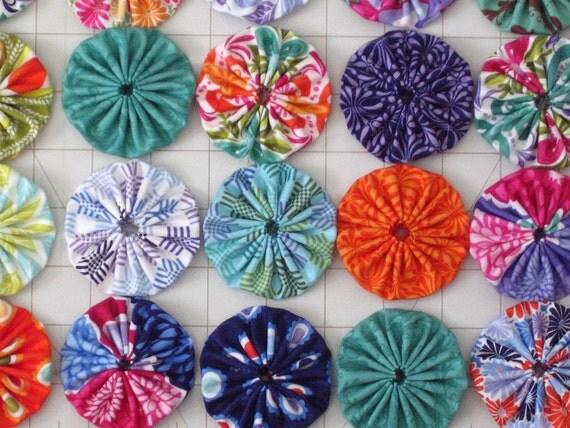 42 Handmade Yoyos, Terrain by Kate Spain for Moda Fabrics